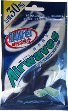 Airwaves無糖口香糖-超涼薄荷(加量30%)2包
