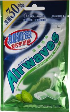 Airwaves無糖口香糖-清香薄荷(加量30%)2包