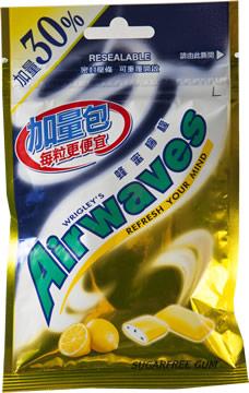 Airwaves無糖口香糖-蜂蜜檸檬(加量30%)2包