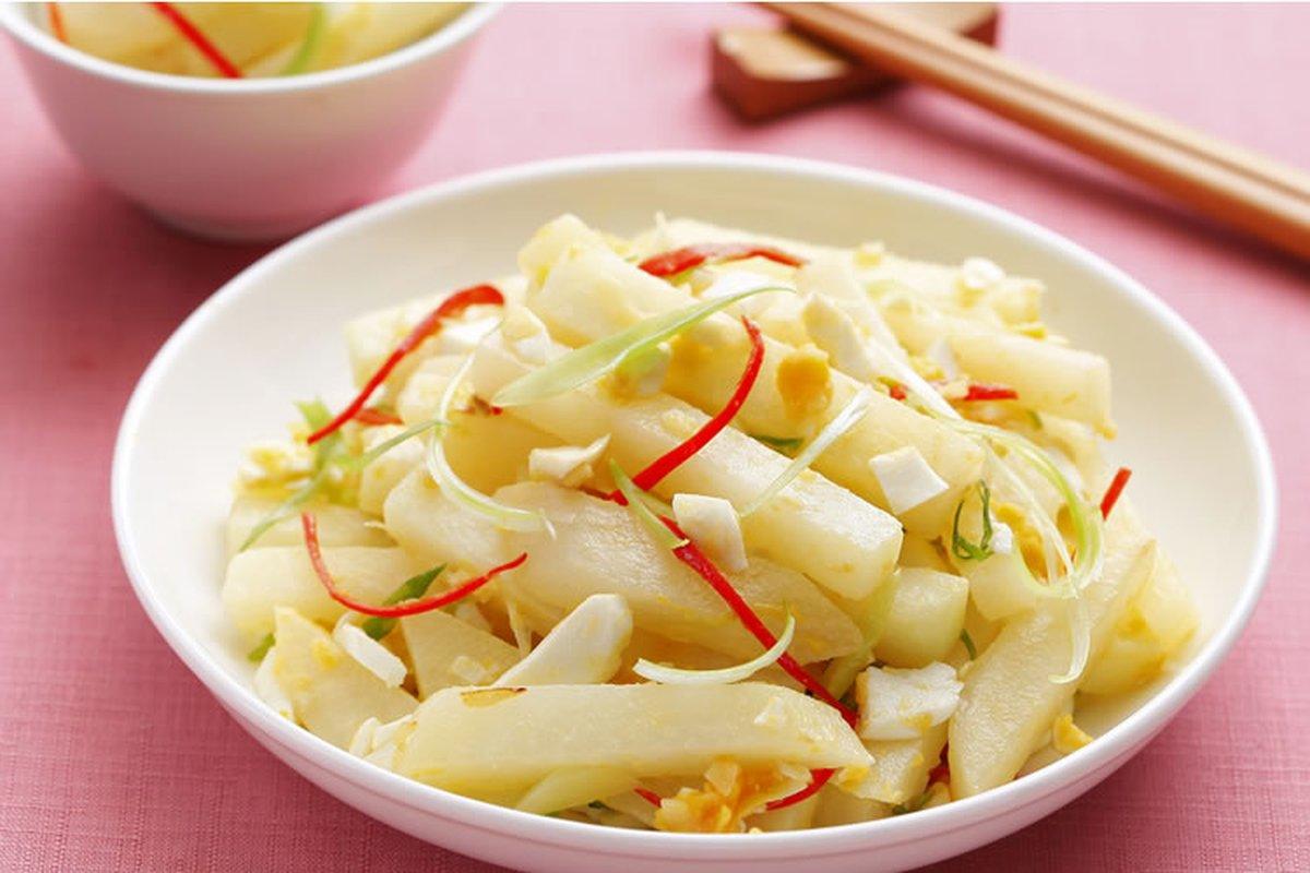 鹹蛋炒大頭菜