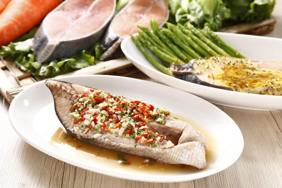 水煮清蒸鮭魚2吃