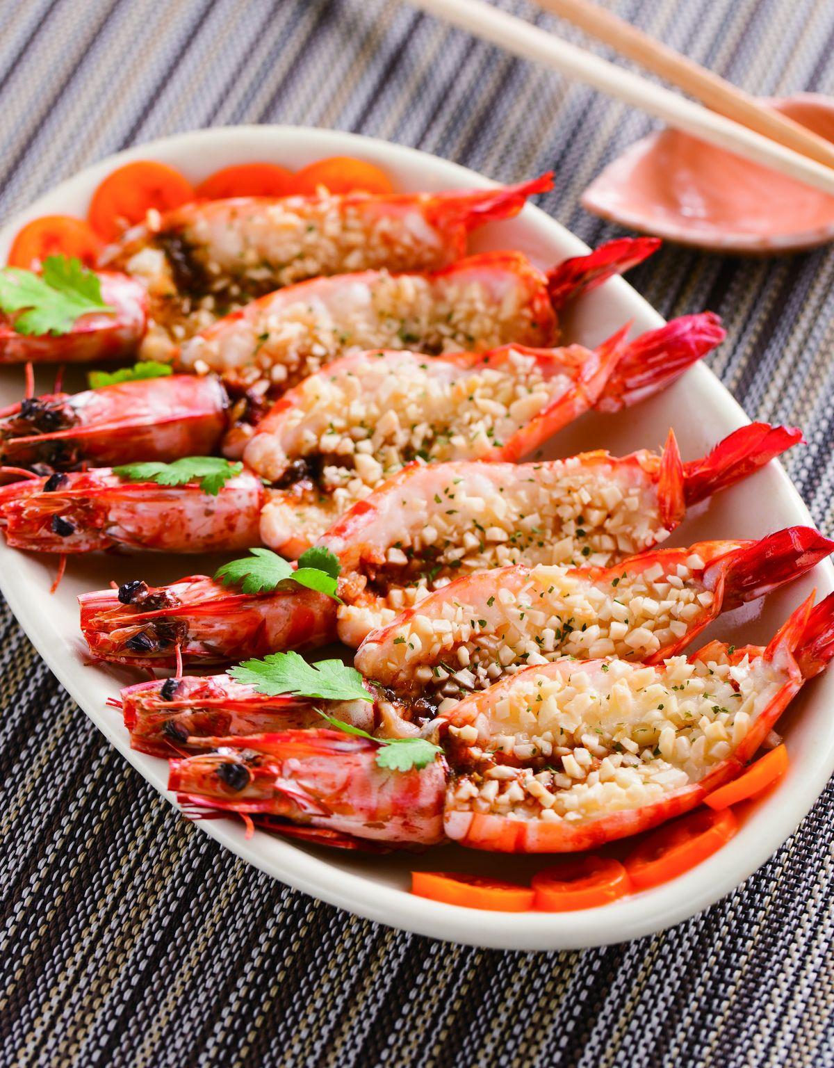 杏仁角烤蝦片