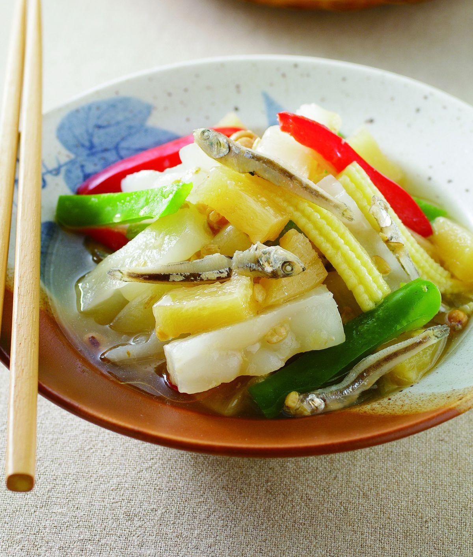 鹹鳳梨小魚乾苦瓜