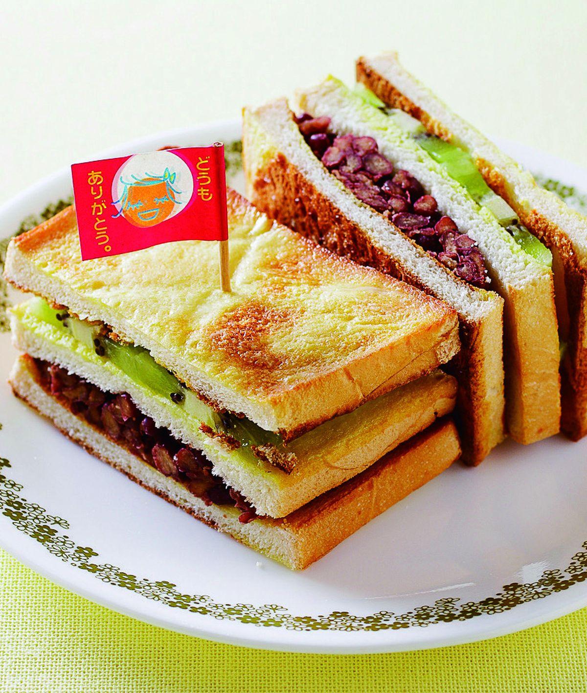 蜜紅豆奇異果三明治