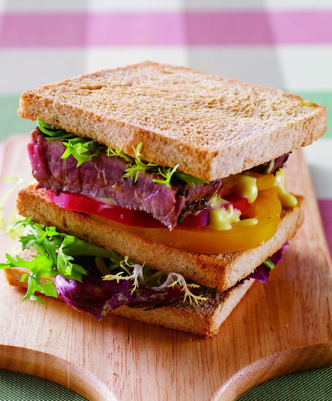 黑胡椒牛排三明治