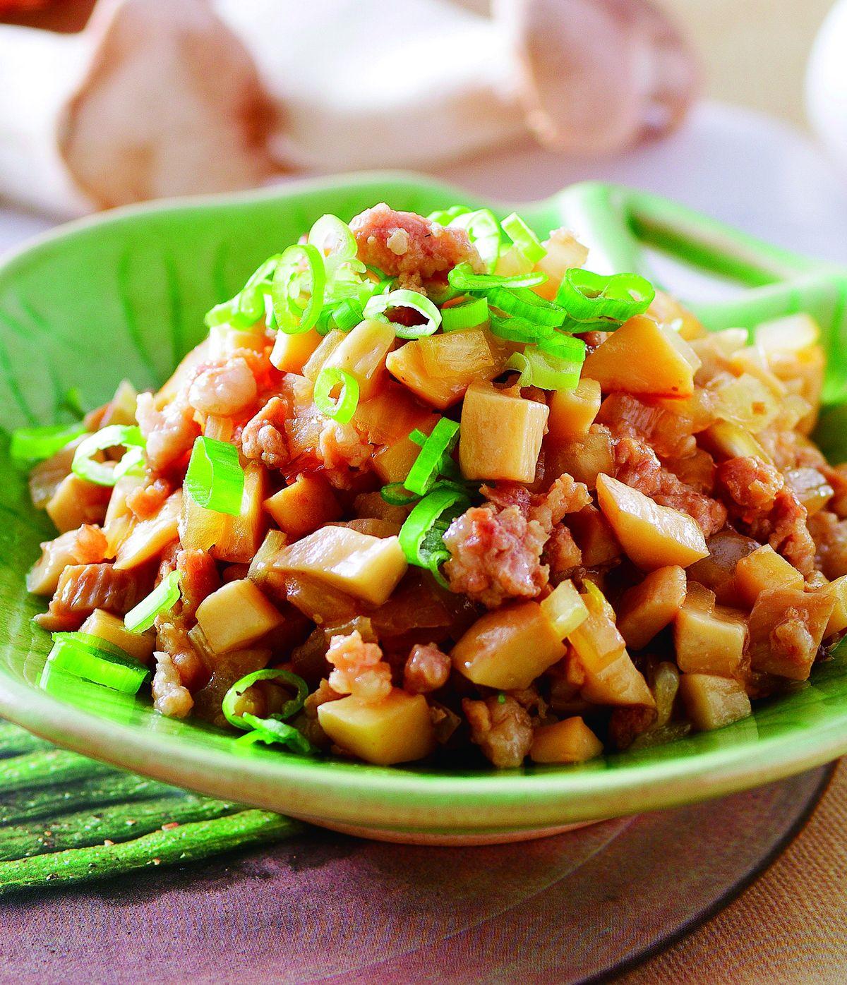 杏鮑菇炒肉醬