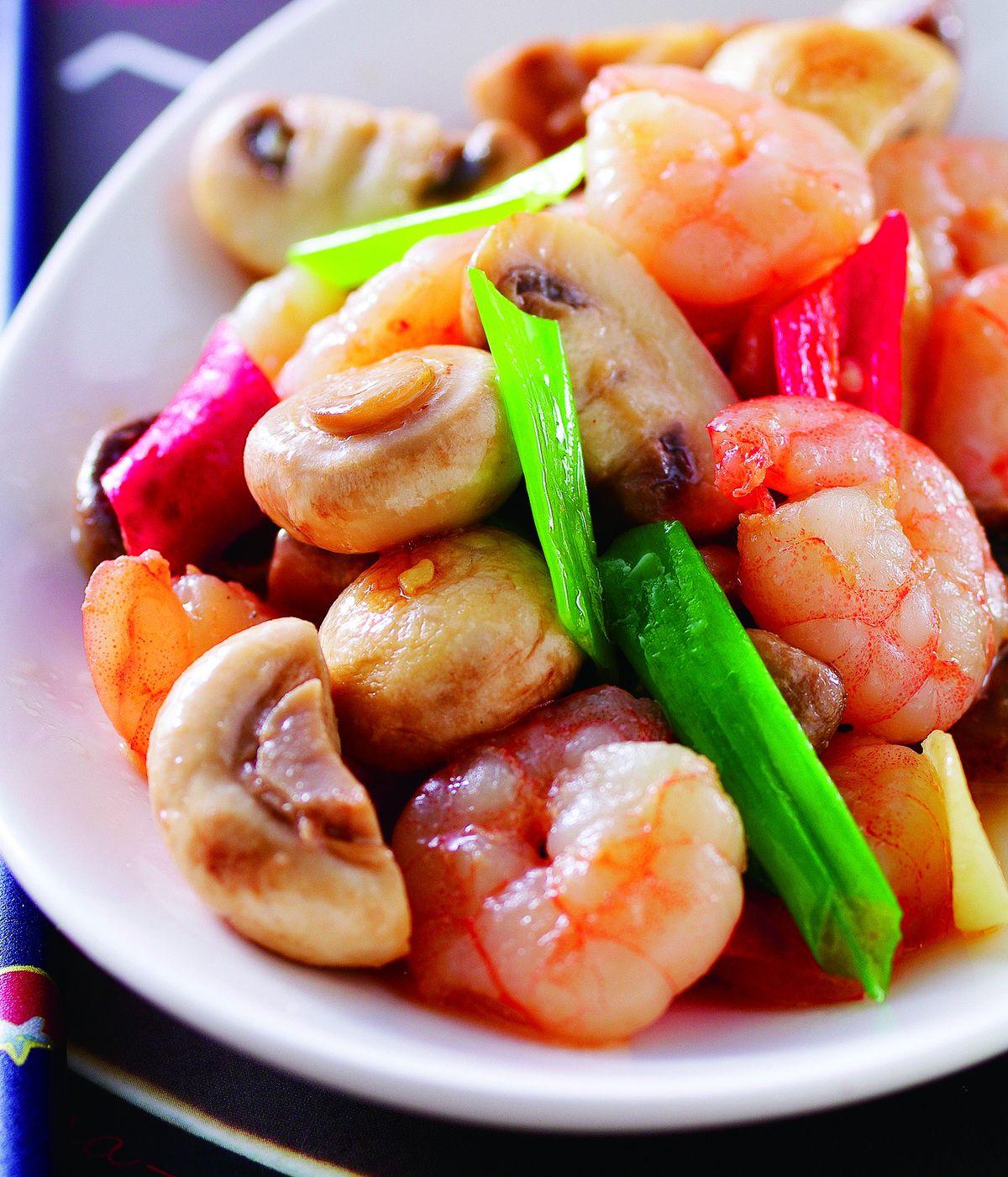 蘑菇炒蝦仁