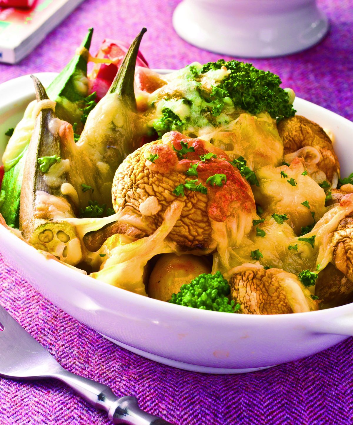 咖哩蔬菜烤蘑菇