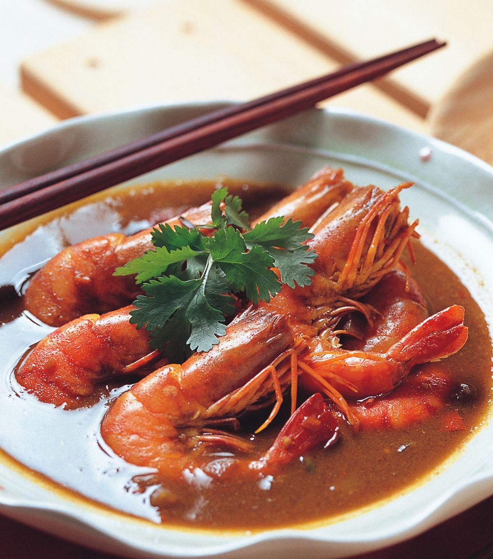 咖哩大虾图片