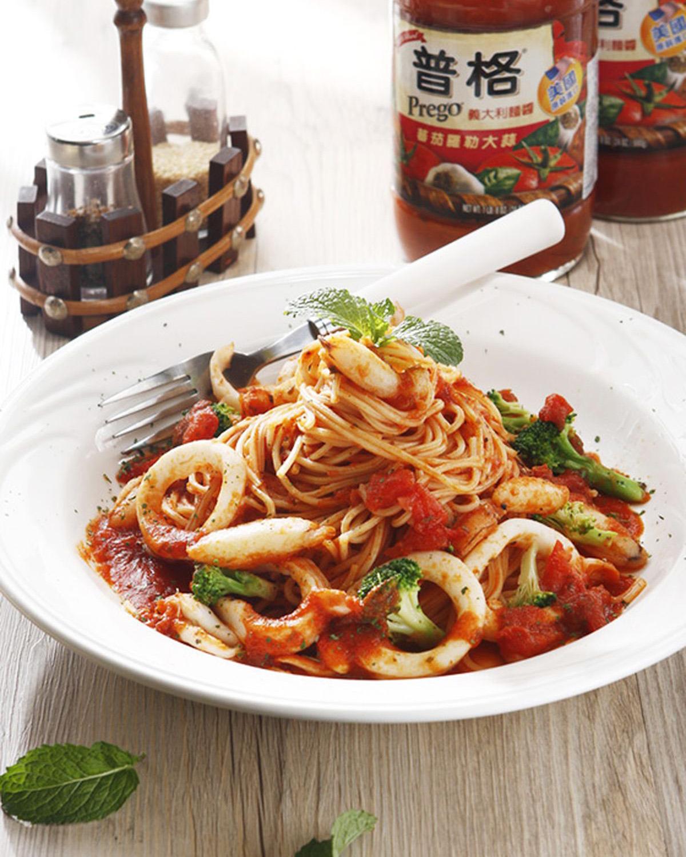 蕃茄海鮮義大利麵(1)