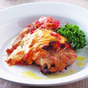 義式香料蔬菜焗雞腿