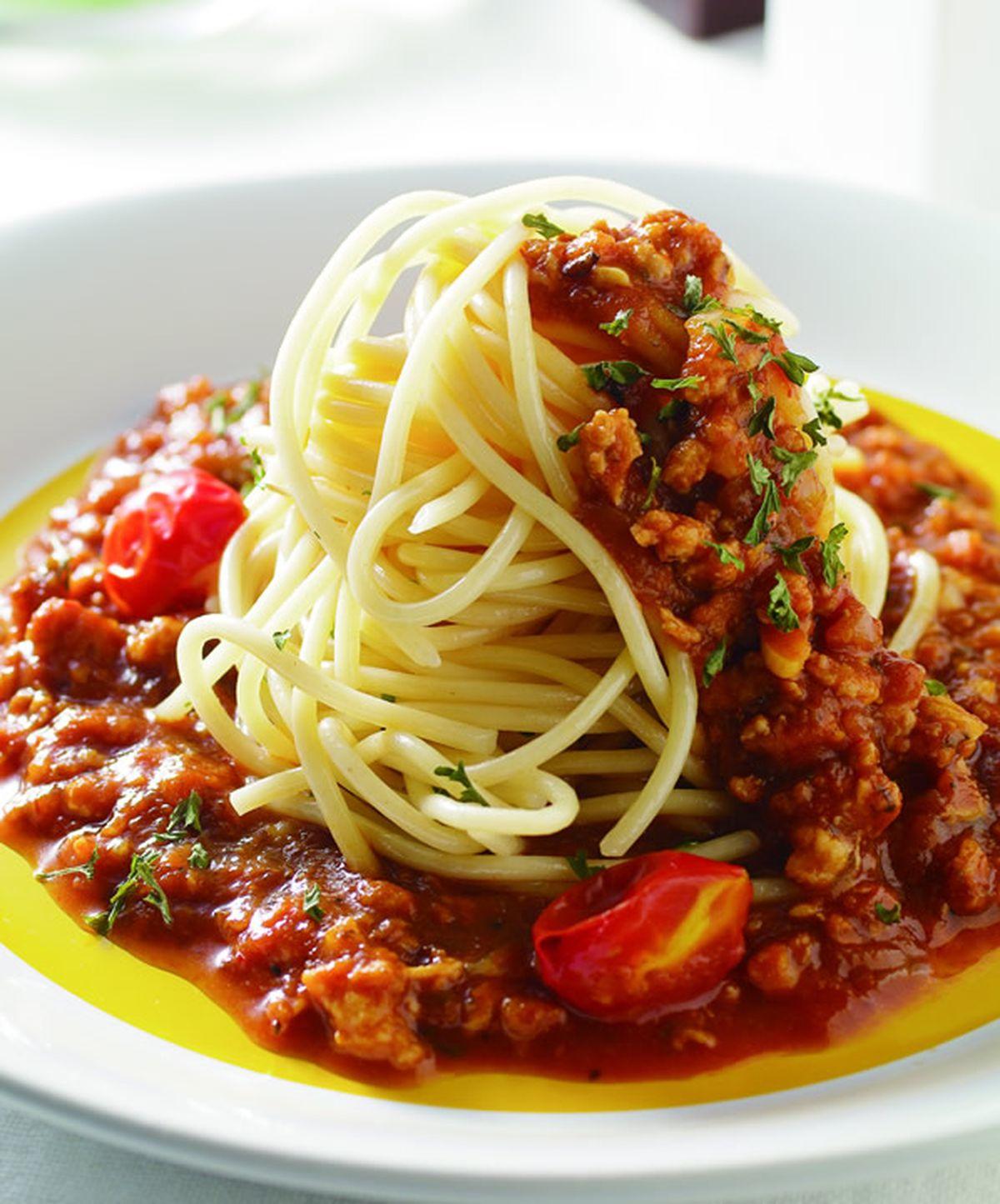 蕃茄肉醬義大利麵(1)::食譜